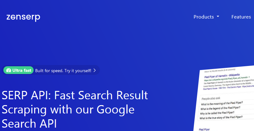 Zenserp – Get the Ultimate Google Search API to Scrape SERP in Real-time
