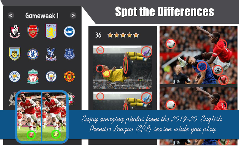 Spot the Differences – EPL Premier League 2019-20