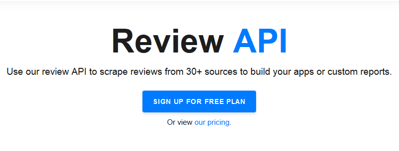 REVIEW API : MUST HAVE !