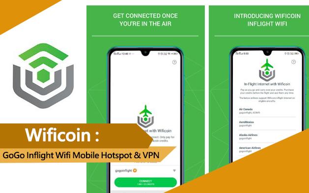 Wificoin: GoGo Inflight Wifi Mobile Hotspot & VPN