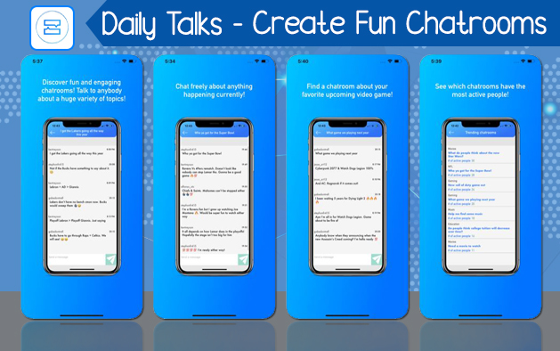 Daily Talks – Create Fun Chatrooms!