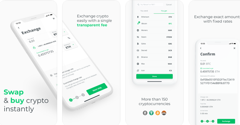 Exchange or Buy Crypto with the Ultimate Changelly App