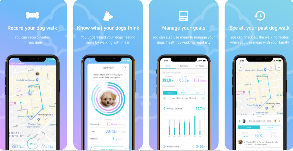 Keep Track of Your Dog Strolls with the App Named Mean – For All Doggies