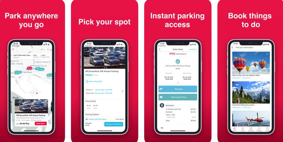 Reserve for Parking, Restaurants, Movies and Events with Way